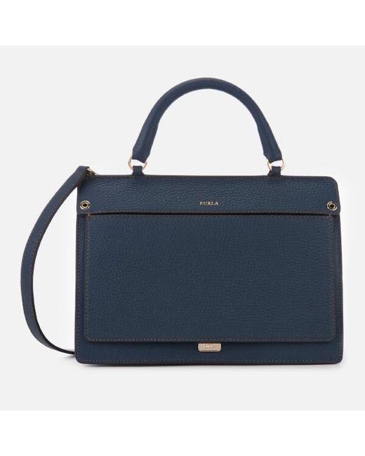 248a263b3f09 Furla - Blue Women s Like Small Top Handle Bag - Lyst ...