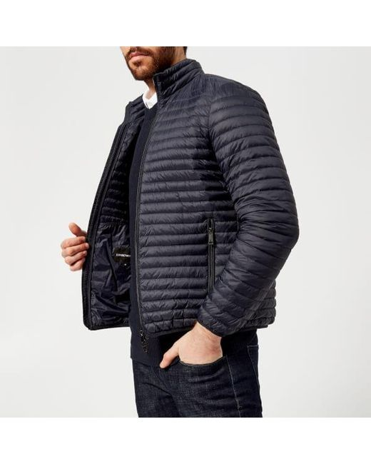 Emporio Armani - Blue Men's Padded Jacket for Men - Lyst