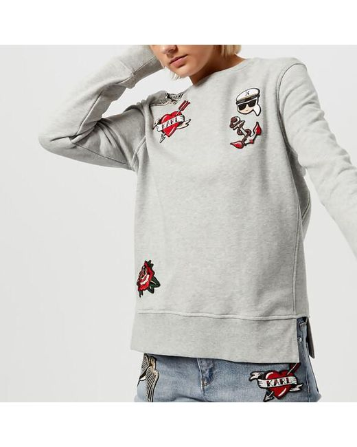 Captain Karl Patches Sweatshirt Karl Lagerfeld For Sale Top Quality Outlet New Styles Cheap Sale 2018 SjOuAN5cW