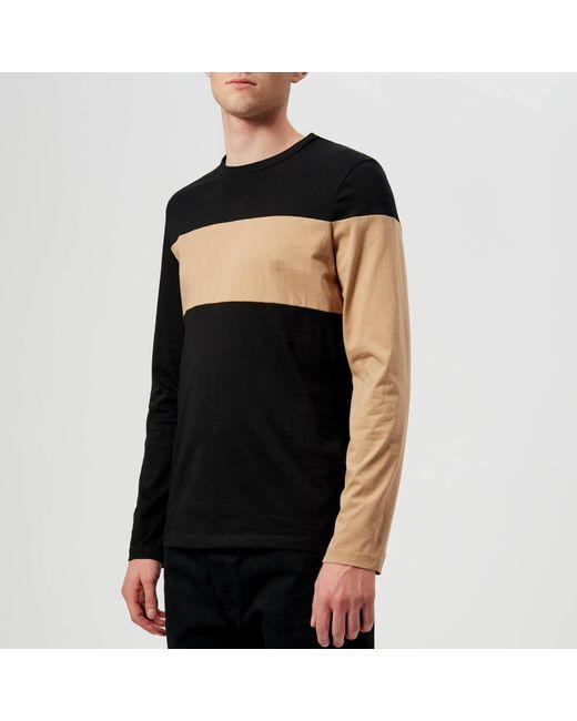 839d6e389aca8f Helmut Lang - Black Band Logo Long Sleeve T-shirt for Men - Lyst ...