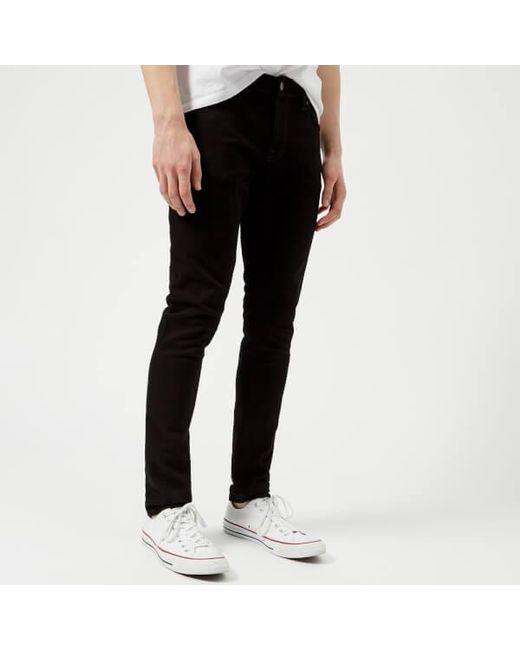 Nudie Jeans - Black Women's Skinny Lin 'skinny/curved Waist' Jeans - Lyst