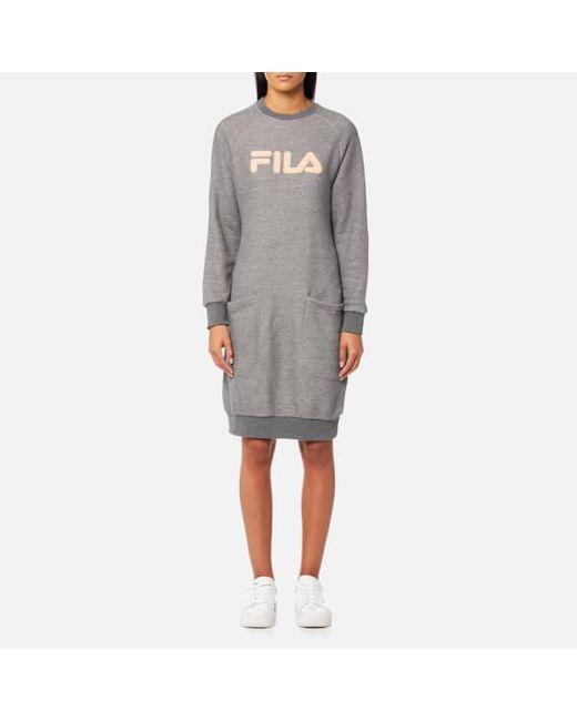 Fila | Gray Blackline Women's Courtney Sweater Dress | Lyst