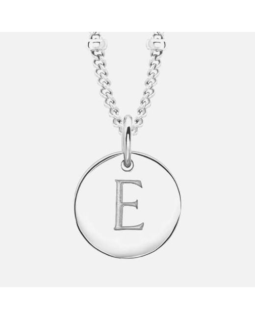 Missoma | Metallic Women's Initial Charm Necklace E | Lyst