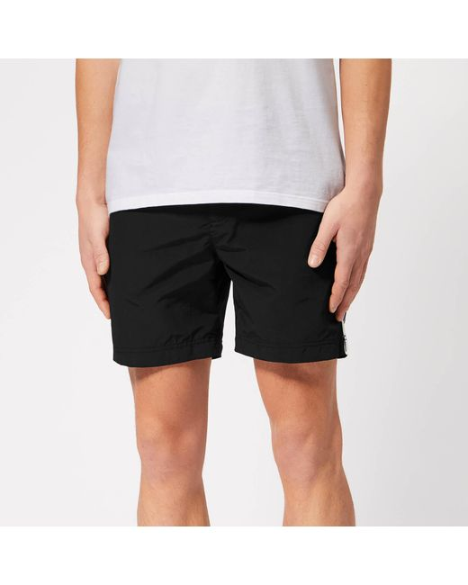 3a061953d5a24 Orlebar Brown - Black Bulldog Tape Swim Shorts for Men - Lyst ...