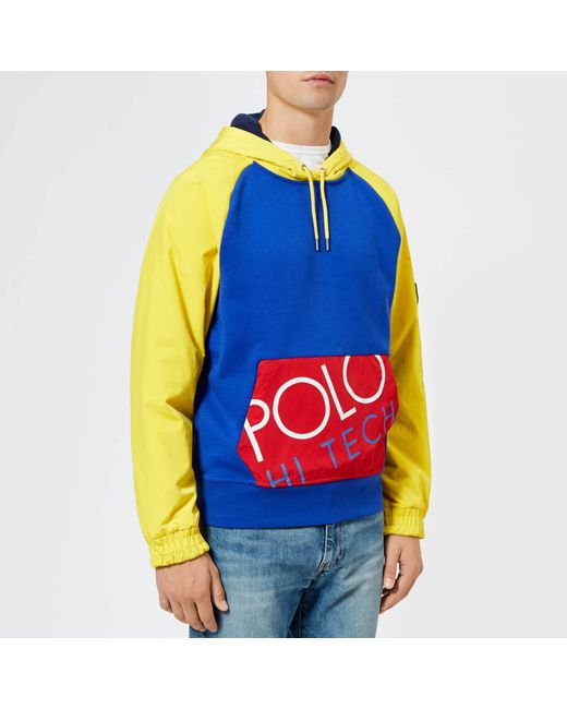 d8adfcecd Polo Ralph Lauren - Blue Multicoloured Hooded Sweatshirt for Men - Lyst ...