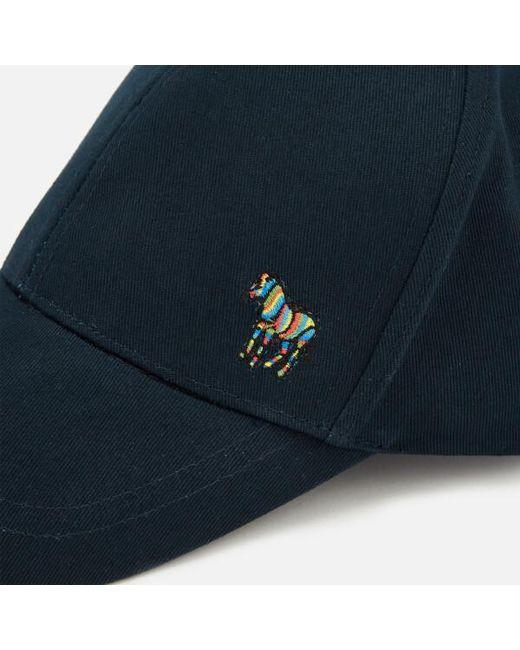 3b86c4c233e ... Paul Smith - Blue Men s Zebra Cap for Men - Lyst