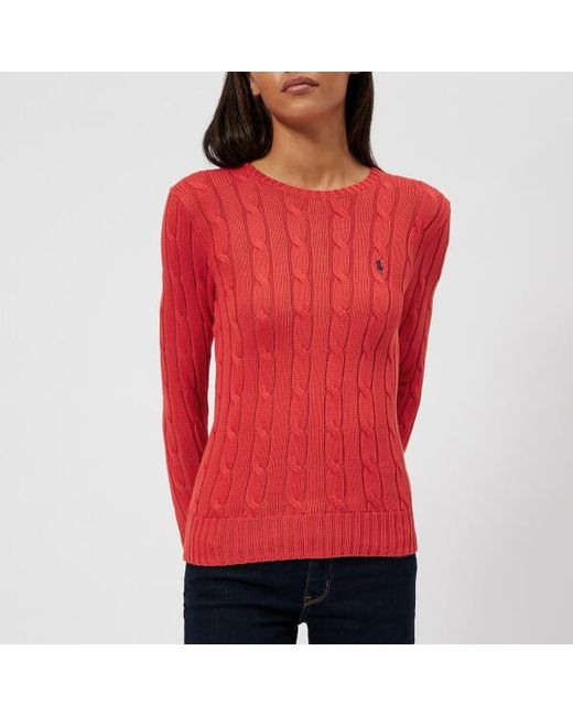 Polo Ralph Lauren - Red Women's Julianna Crew Neck Jumper - Lyst
