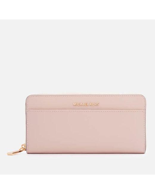 80441e415fed MICHAEL Michael Kors - Pink Women s Money Pieces Pocket Continental Purse -  Lyst ...