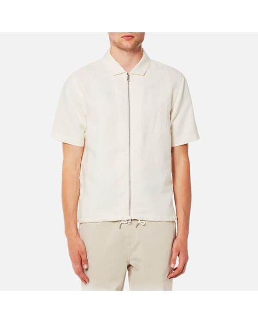 Folk - Natural Men's Linen Zip Shirt for Men - Lyst