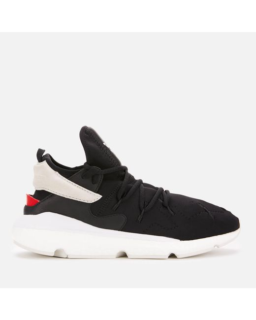 8cc12119d0a02 Y-3 - Black Kusari 2 Trainers for Men - Lyst ...