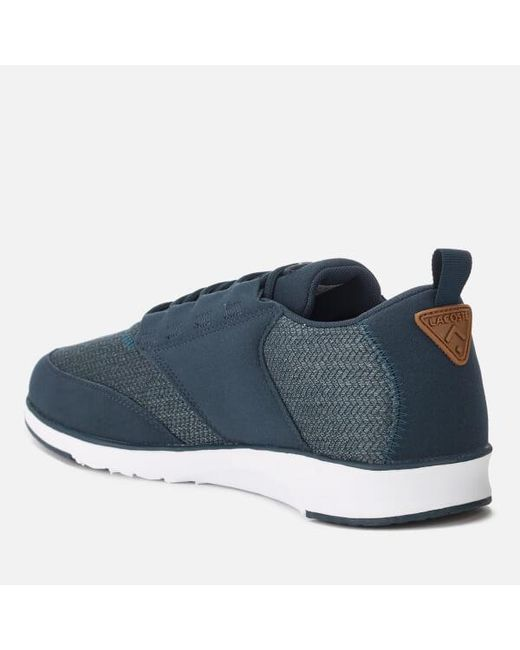 3cb3addb45baa7 ... Lyst Lacoste - Blue Men s Light 318 3 Textile Runner Style Trainers for  Men ...