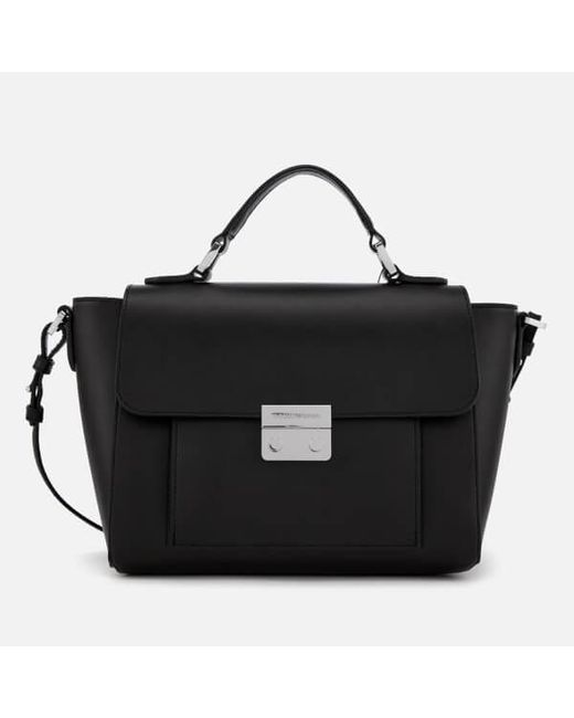 Emporio Armani Women s Top Handle Small Tote Bag in Black - Lyst 1b3bee3cace3f