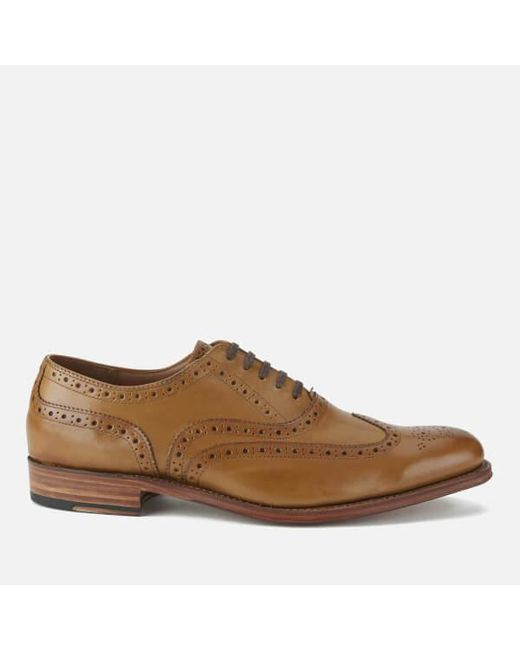GRENSON | Brown Men's Dylan Leather Wingtip Brogues for Men | Lyst