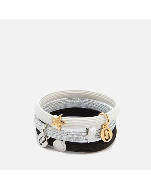 Marc Jacobs - Metallic Women's Mj Double Cut Out Pony Bracelet - Lyst