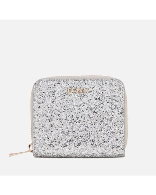Furla - Metallic Women's Babylon Small Zip Around Wallet - Lyst