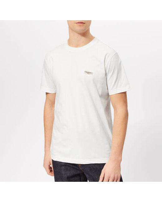 d26a3e58 Nudie Jeans - White Men's Daniel Logo Tshirt for Men - Lyst ...