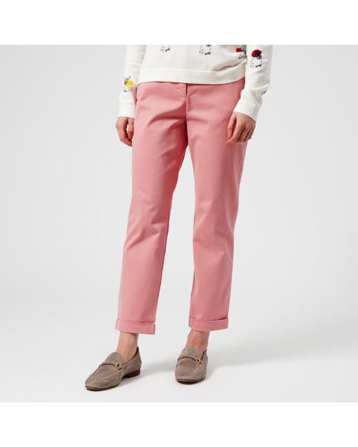 PS by Paul Smith - Women's Pink Chinos - Lyst