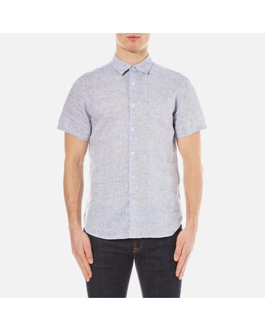 Orlebar Brown | Blue Men's Meden Short Sleeve Shirt for Men | Lyst
