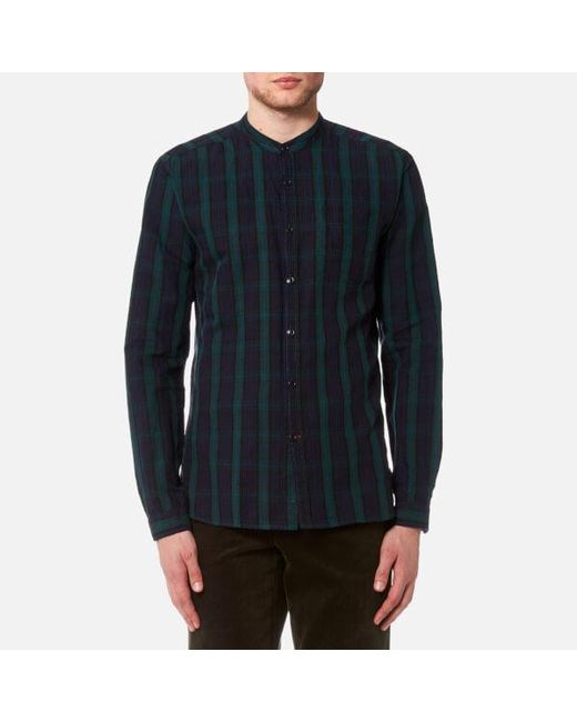 Oliver Spencer - Blue Men's Grandad Shirt for Men - Lyst