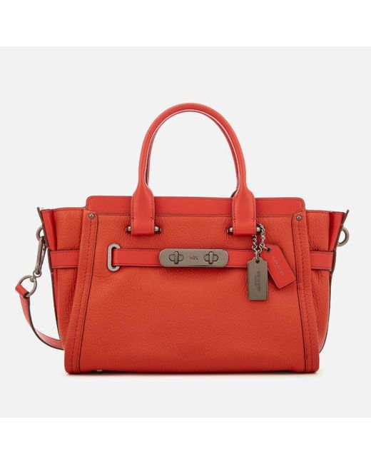 7acbdb0a8392 ... free shipping coach red womens swagger 27 tote bag 4930e 485a5