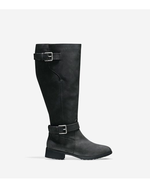 Cole Haan - Black Hastings Leather Knee-High Boots - Lyst