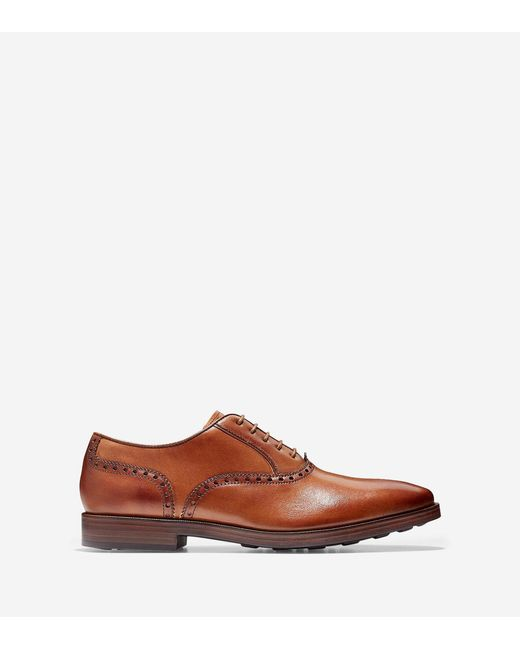 Cole Haan - Brown Hamilton Grand Plain Toe Oxford for Men - Lyst