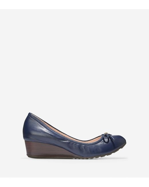 Cole Haan | Blue Tali Grand Lace Wedge (40mm) | Lyst