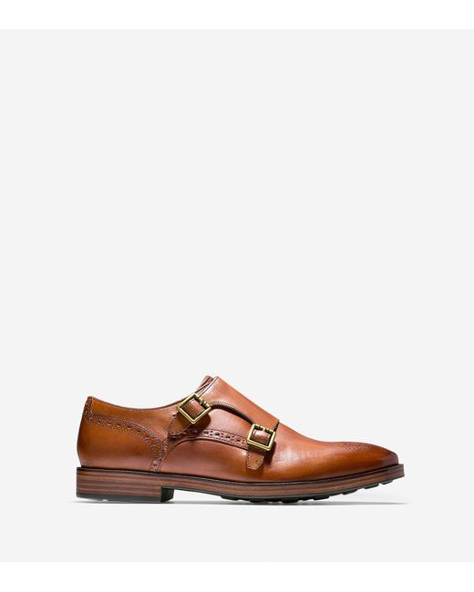 Cole Haan - Brown Hamilton Grand Double Monk for Men - Lyst