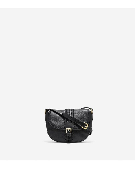 Cole Haan - Black Loralie Whipstitched Mini Saddle Bag - Lyst