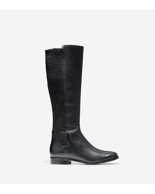 Cole Haan | Black Rockland Leather Knee Boot | Lyst