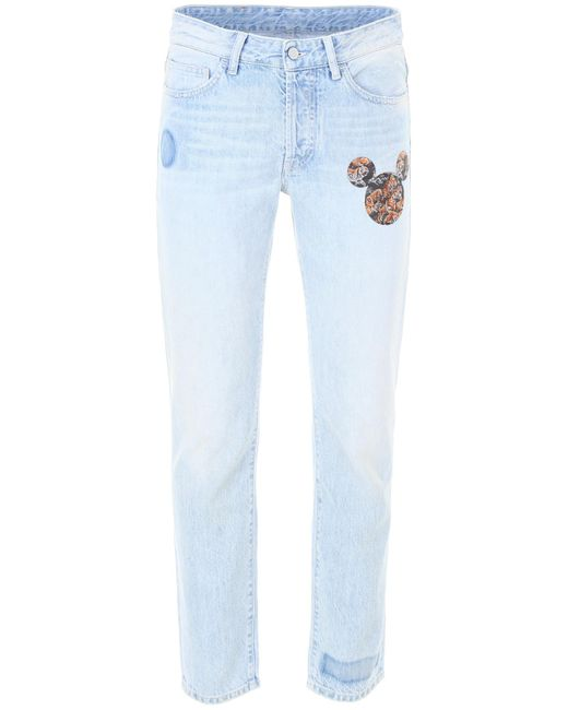 Marcelo Burlon - Blue Mickey Mouse Tigers Jeans for Men - Lyst