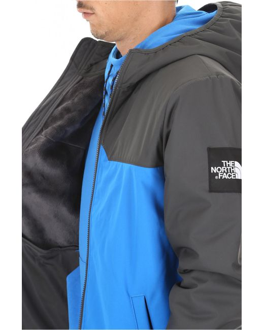 ... The North Face - Blue Softshell West Peak Jacket for Men - Lyst ... 5d1a0e503