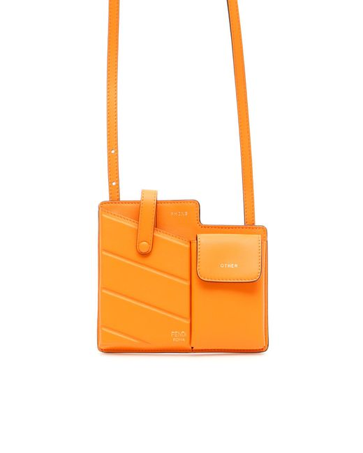 f4b9bc23c1d6 Fendi - Orange Two-pocket Mini Bag - Lyst ...