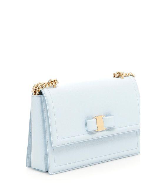 Ferragamo Ginny Crossbody Bag in Blue - Save 30.366847826086953% - Lyst 49d2da359f
