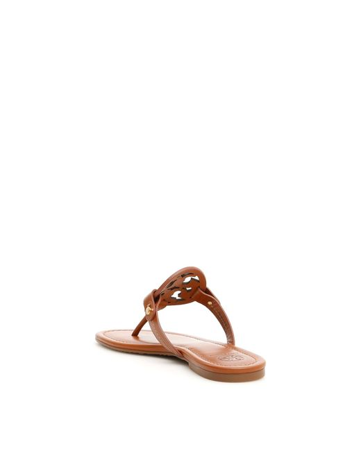 d632cf080 ... Tory Burch - Brown Miller Sandals - Lyst ...
