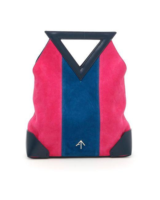 MANU Atelier - Multicolor Triangle North Suede & Leather Mini Bag - Lyst
