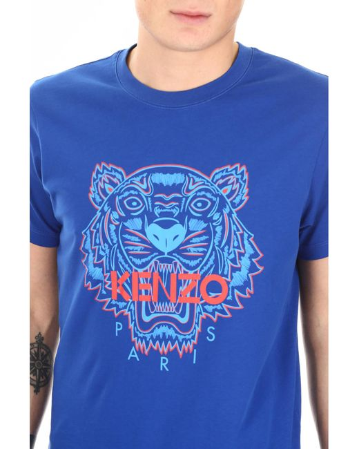53805b683cfd ... KENZO - Blue Tiger T-shirt for Men - Lyst ...