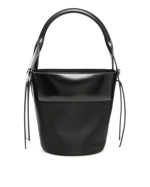14e4d2252fe6c9 ... Prada - Black Nylon And Leather Ouverture Bucket Bag - Lyst ...