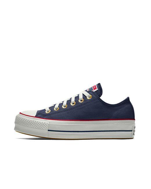 Converse - Blue Custom Chuck Taylor All Star Lift Low Top Women s Shoe -  Lyst 23df9543d