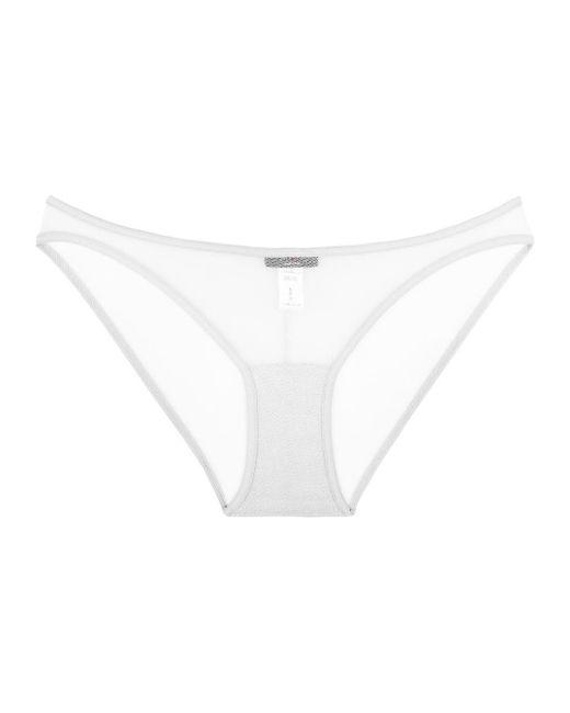 cosabella new soire sheer lowrider bikini in white lyst