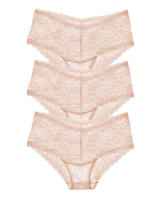 Cosabella - Natural Trenta Lowrider Lace Hotpant Nude 3-pack - Lyst