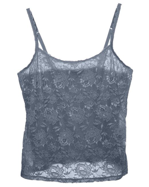 Cosabella - Gray Never Say Never Extended Lace Camisole - Lyst