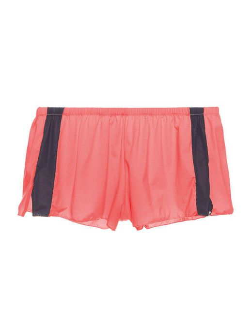 Cosabella - Black Jeanne Colorblock Tap Short - Lyst