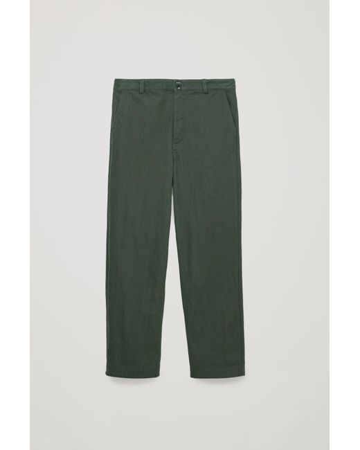 158e34bba36cb Lyst - COS Relaxed Button-up Chinos in Green - Save 22%