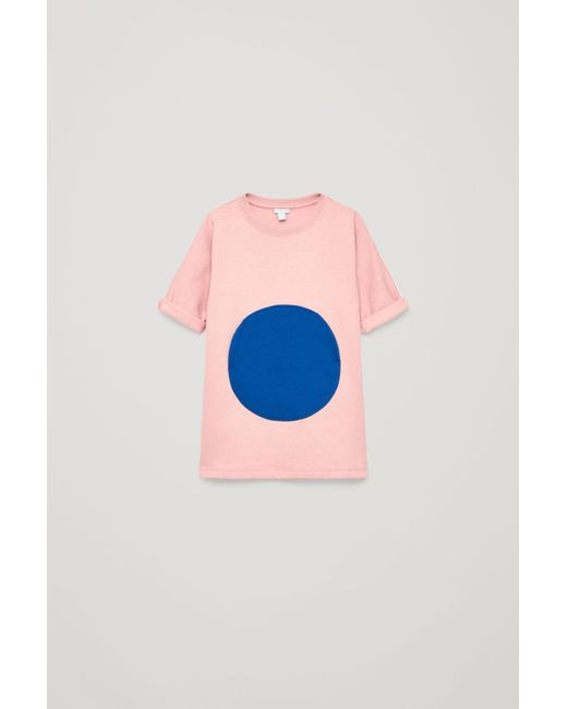 COS - Pink Circle Patch-pocket Dress - Lyst
