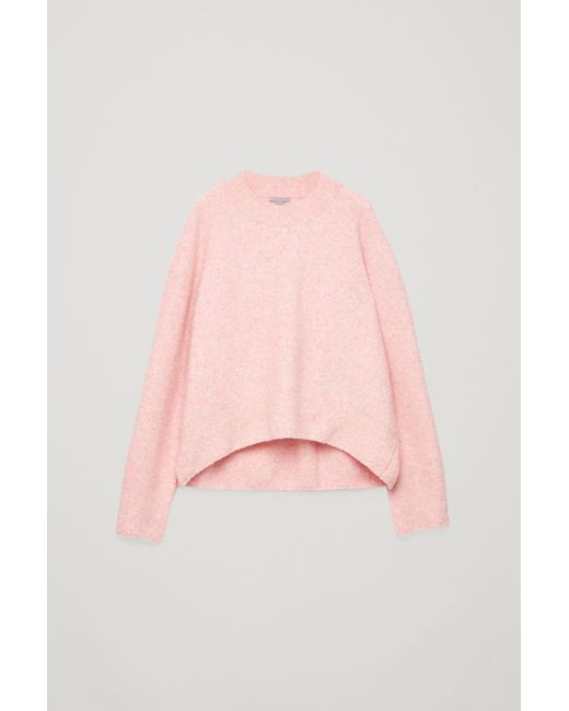 0fbb86d6f754 COS Oversized Wool-boucle Jumper in Pink - Lyst