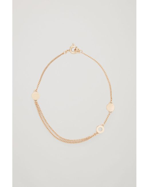 COS - Metallic Ring-detail Chain Bracelet - Lyst