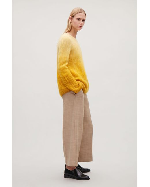 COS | Yellow Ombré Mohair Jumper | Lyst