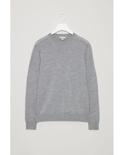 COS - Gray Raglan-sleeve Cashmere Jumper for Men - Lyst