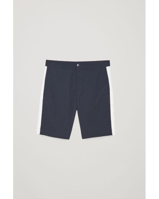 a7d92b66e2 Lyst - Cos Slim-fit Swim Shorts in Blue for Men